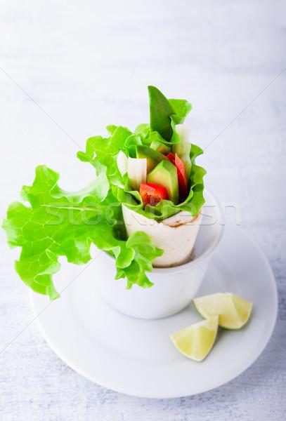 растительное Бутерброды белый поверхность Сток-фото © user_11224430