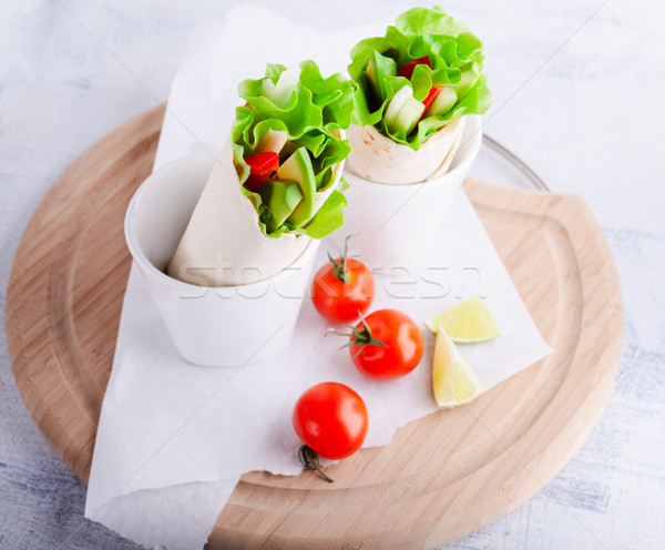 Vegetable wrap sandwiches Stock photo © user_11224430