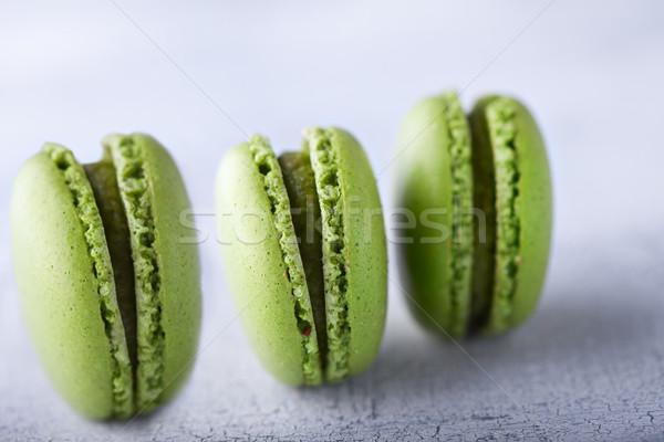 Francia három zöld étel csokoládé narancs Stock fotó © user_11224430