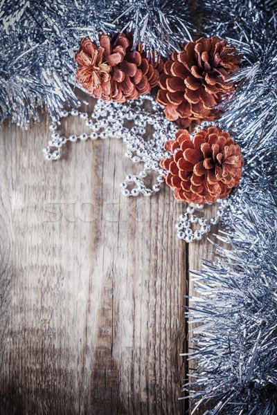 Lakberendezés fenyőfa fából készült ajándék karácsony ünnep Stock fotó © user_11224430