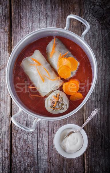 Relleno col carne arroz cena Foto stock © user_11224430