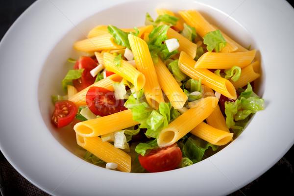 Italiana pasta insalata servito bianco piatto Foto d'archivio © user_11224430