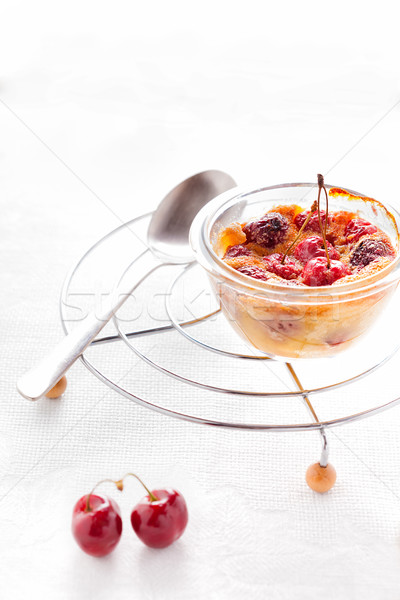 Glutenvrij meel rijst bereid voedsel vruchten Stockfoto © user_11224430