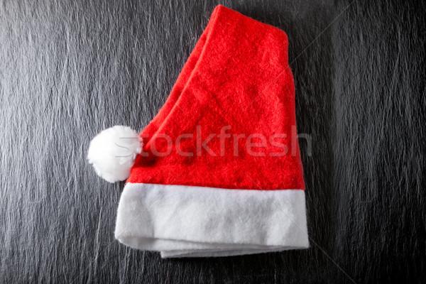 Rosso bianco Hat nero design Natale Foto d'archivio © user_11224430