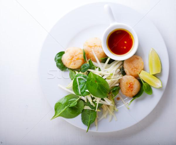 Scallop Salad on a stone plate Stock photo © user_11224430