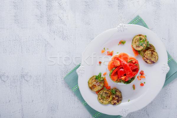 риса жареный цуккини морковь продовольствие Сток-фото © user_11224430