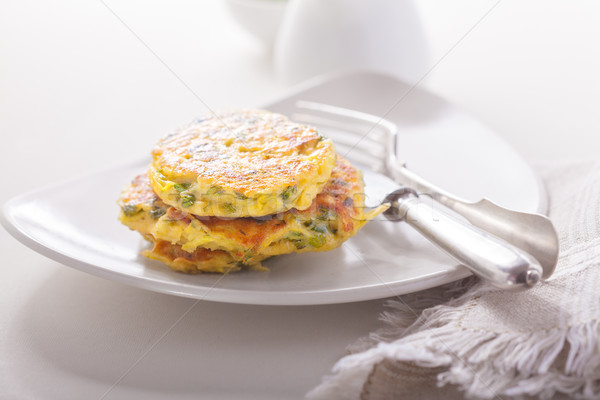 Healthy vegetarian zucchini fritters Stock photo © user_11224430