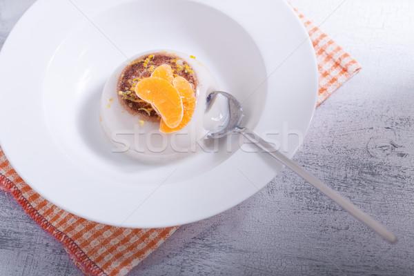 Stock photo: Coconut Panna Cotta