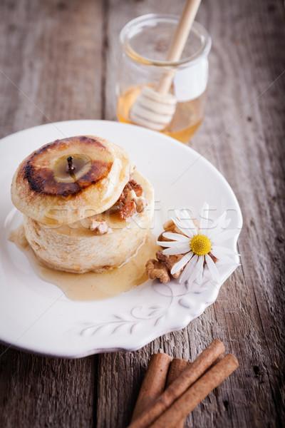 яблоко орехи изюм поверхность Сток-фото © user_11224430