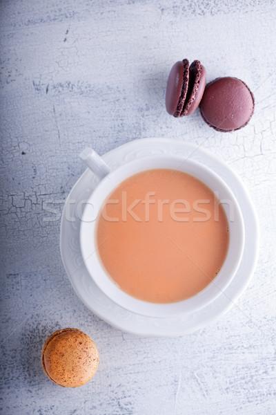 Copo chá leite francês prato Foto stock © user_11224430