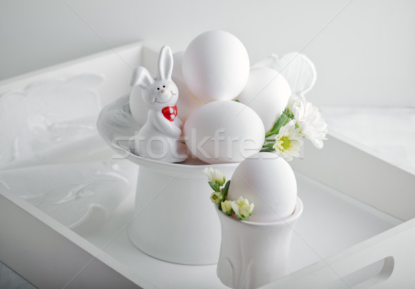 Ovos rabino flor flores branco superfície Foto stock © user_11224430