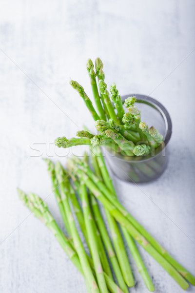 Bunch of green and fresh Asparagus Stock photo © user_11224430
