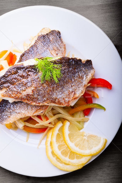 Fillet of sea bream with fennel and pepper Stock photo © user_11224430