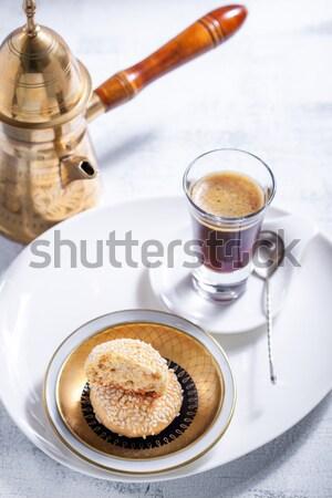 Bolinhos café mesa de café sobremesa férias Foto stock © user_11224430