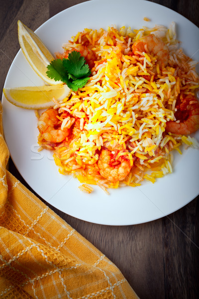 Indiai Seattle citrom asztal étel vacsora Stock fotó © user_11224430