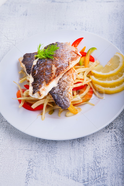 Sea Bream fish with vegetables Stock photo © user_11224430