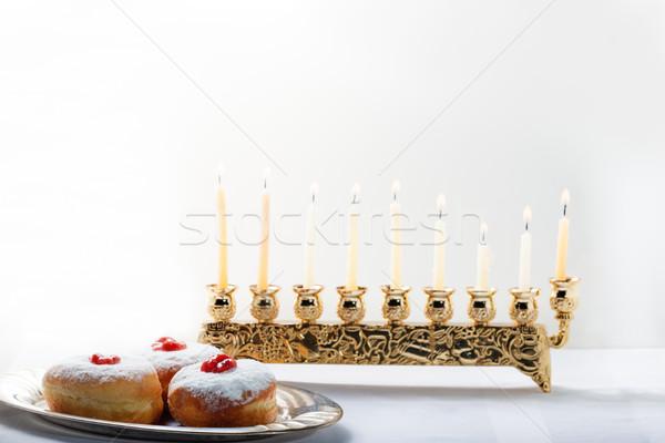 Sufganiyot for Hanukkah Stock photo © user_11224430