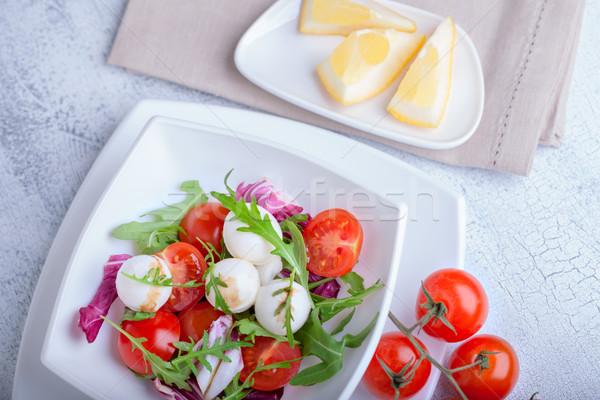 Салат моцарелла свежие служивший пряный Сток-фото © user_11224430