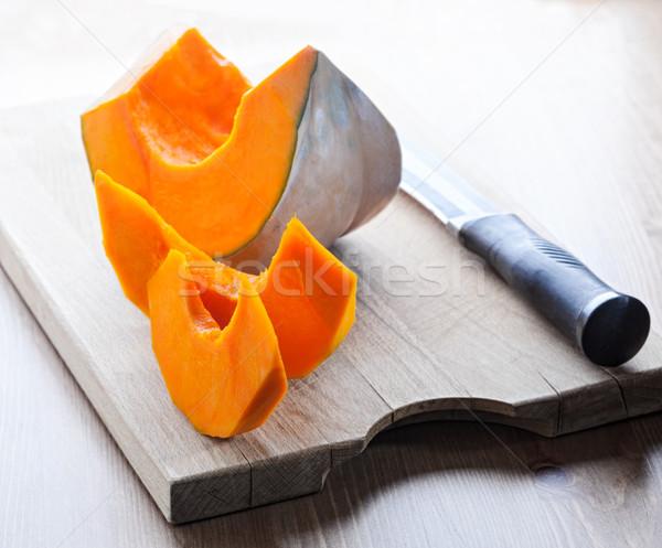 Calabaza cuchillo alimentos naturaleza Foto stock © user_11224430