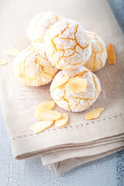 Almonds Cookies, Macaroon snowie peaks  Stock photo © user_11224430