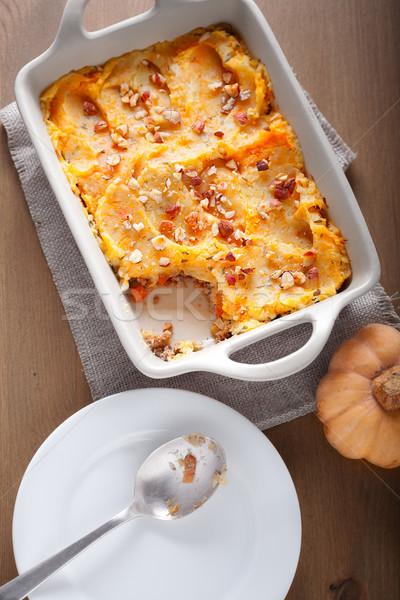 Sütőtök krumpli marhahús hús eszik krumpli Stock fotó © user_11224430