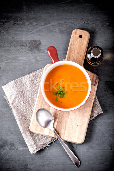 Pumpkin creme soup Stock photo © user_11224430