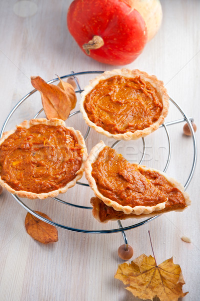 Pumpkin pie dessert Stock photo © user_11224430