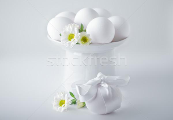 Foto d'archivio: Uova · fiori · bianco · Pasqua · simboli · fiore