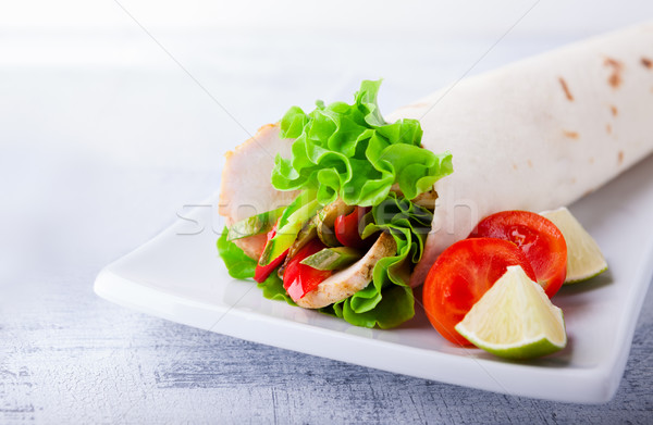 Chicken wrap sandwich Stock photo © user_11224430