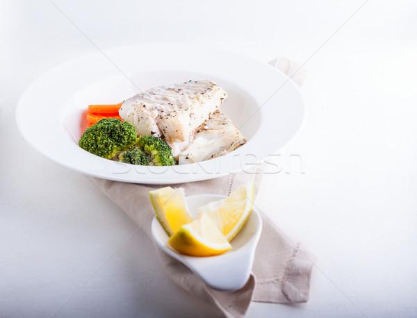 Foto stock: Hortalizas · saludable · almuerzo · al · vapor · alimentos · peces