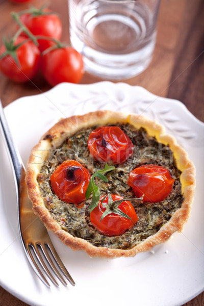 Mini Spinach Quiche Stock photo © user_11224430