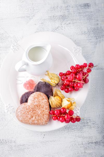 Mel bolo dia dos namorados chocolate comida café da manhã Foto stock © user_11224430