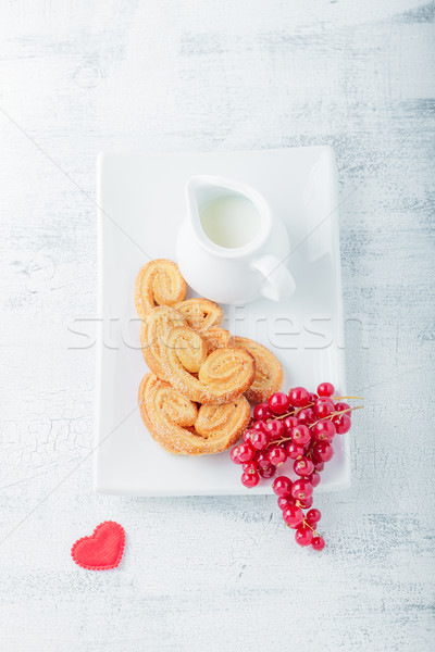 Biscuits sucre cannelle saint valentin alimentaire déjeuner Photo stock © user_11224430