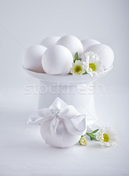 Foto d'archivio: Uovo · fiori · Pasqua · tempo · bianco · simboli