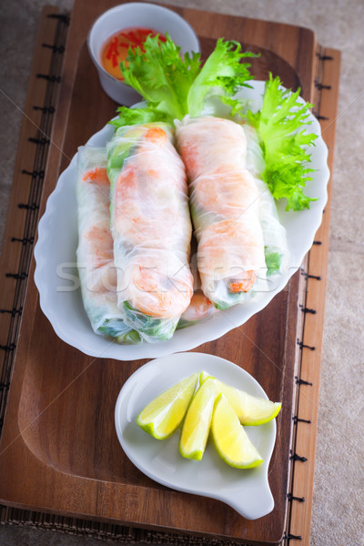 Vietnamese Rice Paper Rolls Stock photo © user_11224430