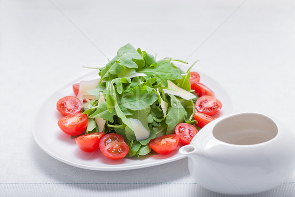 Salad with arugula, tomatoes Stock photo © user_11224430
