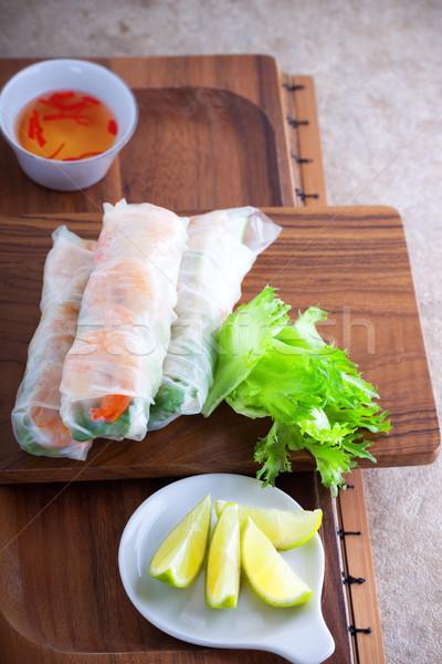 Vietnamese Rice Paper Rolls Stock photo © user_11224430