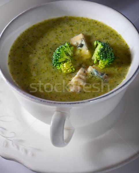 çanak kremsi brokoli çorba rokfor Stok fotoğraf © user_11224430
