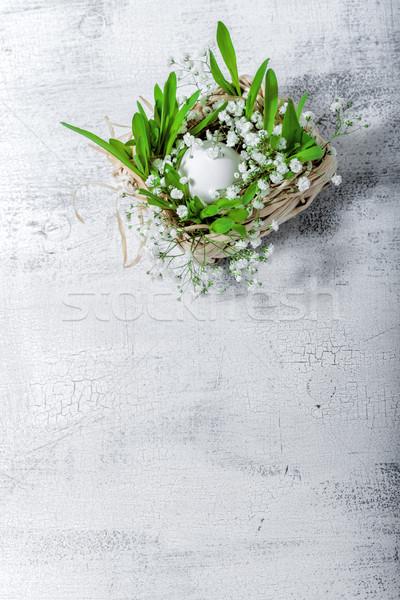 Ei bereid easter egg witte Pasen symbolen Stockfoto © user_11224430