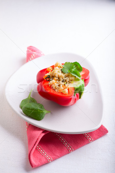 Stuffed red peppers Stock photo © user_11224430