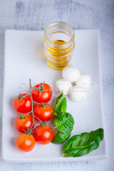 Caprese salad ingredients Stock photo © user_11224430