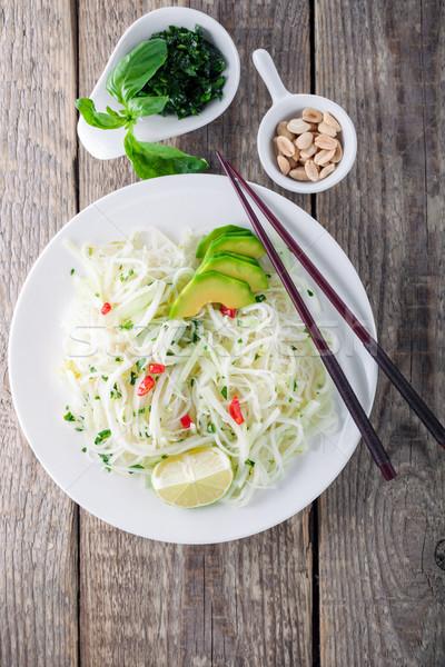 辛い 麺 ドレッシング 魚 ソース 酢 ストックフォト © user_11224430
