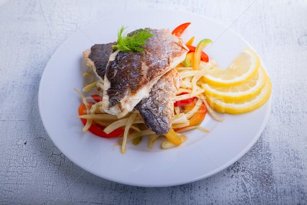 морем рыбы овощей филе фенхель перец Сток-фото © user_11224430