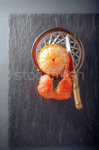 Fresco maduro laranja tabela Foto stock © user_11224430