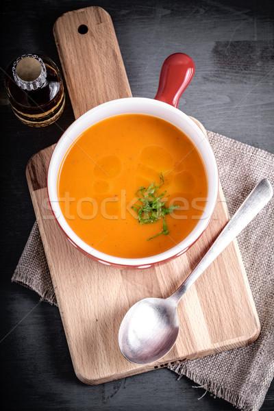 Pumpkin creme soup Stock photo © user_11224430