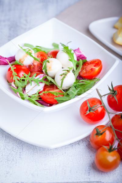 Salad with mozzarella Stock photo © user_11224430