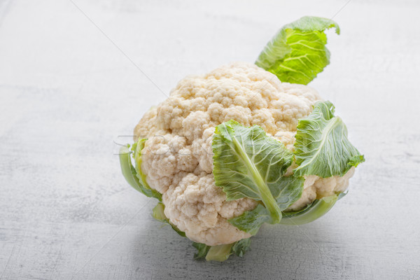head of Fresh Cauliflower Stock photo © user_11224430