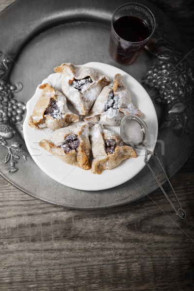 Jewish Pastry Hamantaschen on a table for Purim Holiday. Stock photo © user_11224430