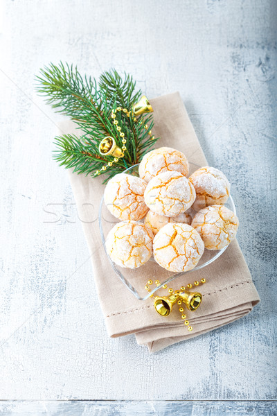 Almonds Cookies - Macaroon snowy peak Stock photo © user_11224430