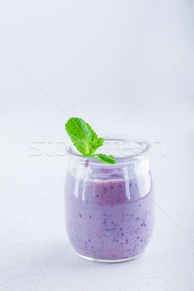 Delicious blueberry yoghurt smoothie Stock photo © user_11224430
